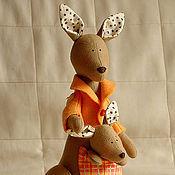 Куклы и игрушки ручной работы. Ярмарка Мастеров - ручная работа Мама Кенга и Крошка Ру. Handmade.