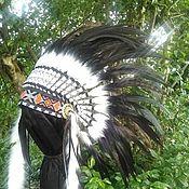 Одежда handmade. Livemaster - original item Black Indian Headdress, Native American Warbonnet. Handmade.