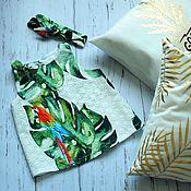 Работы для детей, ручной работы. Ярмарка Мастеров - ручная работа Топ Тропики и повязка на голову. Handmade.