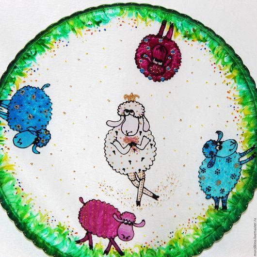 Тарелка для торта Овечка