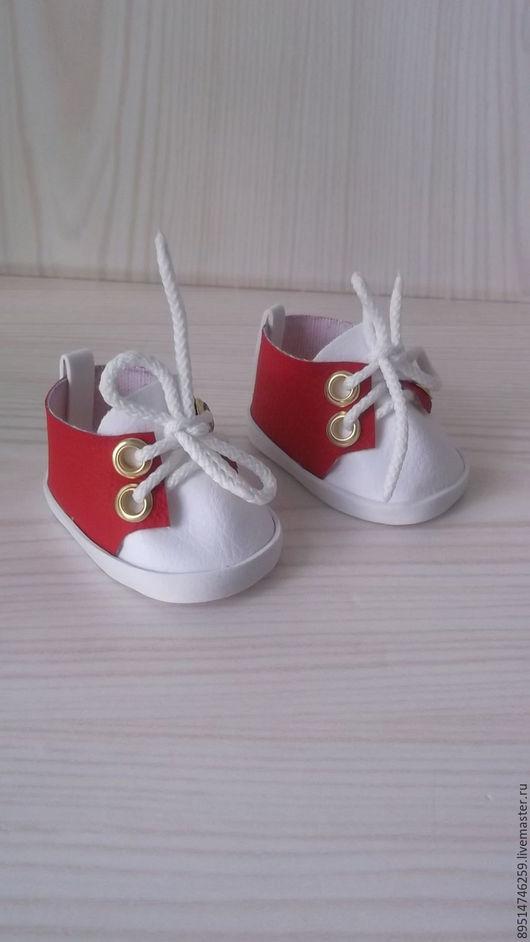 Одежда для кукол ручной работы. Ярмарка Мастеров - ручная работа. Купить Красные кроссовки для Беби Бон. Handmade. Ярко-красный