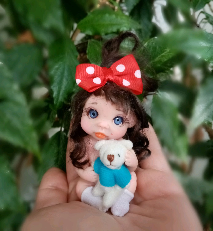 Иришка и медведик, Коллекционные куклы, Новотроицк, Фото №1