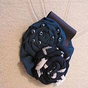 Украшения ручной работы. Ярмарка Мастеров - ручная работа брош текстильная,украсит ваш наряд. Handmade.