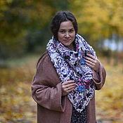 handmade. Livemaster - original item Warm cozy lilac neck scarf. Handmade.