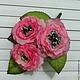 """Цветы ручной работы. Ярмарка Мастеров - ручная работа. Купить Цветы из ткани """"Аврора"""". Handmade. Розовый, заколки для волос"""