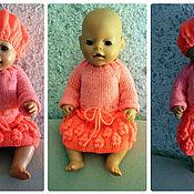 Куклы и игрушки ручной работы. Ярмарка Мастеров - ручная работа Платье и берет. Handmade.