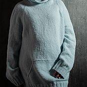 Одежда handmade. Livemaster - original item Women`s Basic Sweater Sweatshirt Blue. Handmade.
