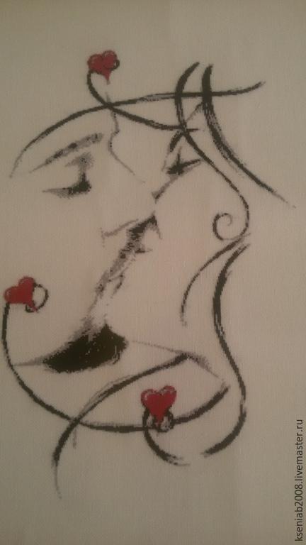 Люди, ручной работы. Ярмарка Мастеров - ручная работа. Купить Поцелуй. Handmade. Белый