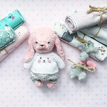 Куклы и игрушки ручной работы. Ярмарка Мастеров - ручная работа Зайка тедди. Handmade.