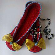 Обувь ручной работы. Ярмарка Мастеров - ручная работа Тапки-балетки МАК. Handmade.