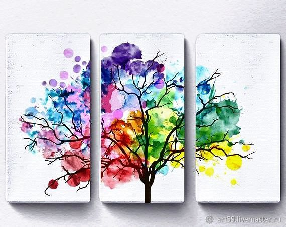 Triptych 'the Color tree', Pictures, St. Petersburg,  Фото №1