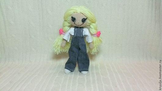 Куклы тыквоголовки ручной работы. Ярмарка Мастеров - ручная работа. Купить Кукла вязаная игровая с комплектом одежды. Handmade.