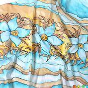 """Аксессуары ручной работы. Ярмарка Мастеров - ручная работа Палантин """"Цветочный мотив"""" - батик. Handmade."""