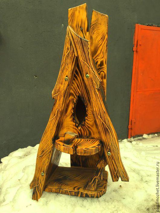 Домик для птиц и кормушка `Оригинальный` Столярная мастерская `Папа-Может`
