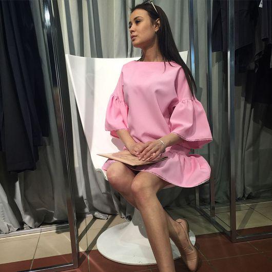Платья ручной работы. Ярмарка Мастеров - ручная работа. Купить Розовое платье. Handmade. Женская одежда, одежда для женщин, мода