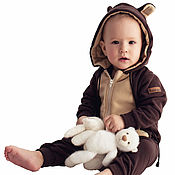 Работы для детей, handmade. Livemaster - original item Romper infant Brown Bear BROWN BEAR FUNKY HOMESUIT KIDS. Handmade.