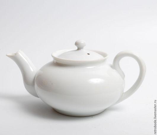 Винтажная посуда. Ярмарка Мастеров - ручная работа. Купить Фарфоровый чайник, заварник Кузнецов, старинный фарфор 1930. Handmade. Белый