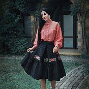 Одежда handmade. Livemaster - original item Elegant skirt with hand embroidery, full skirt. Handmade.