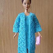 Куклы и игрушки ручной работы. Ярмарка Мастеров - ручная работа Короткое платье и ажурный кардиган. Handmade.
