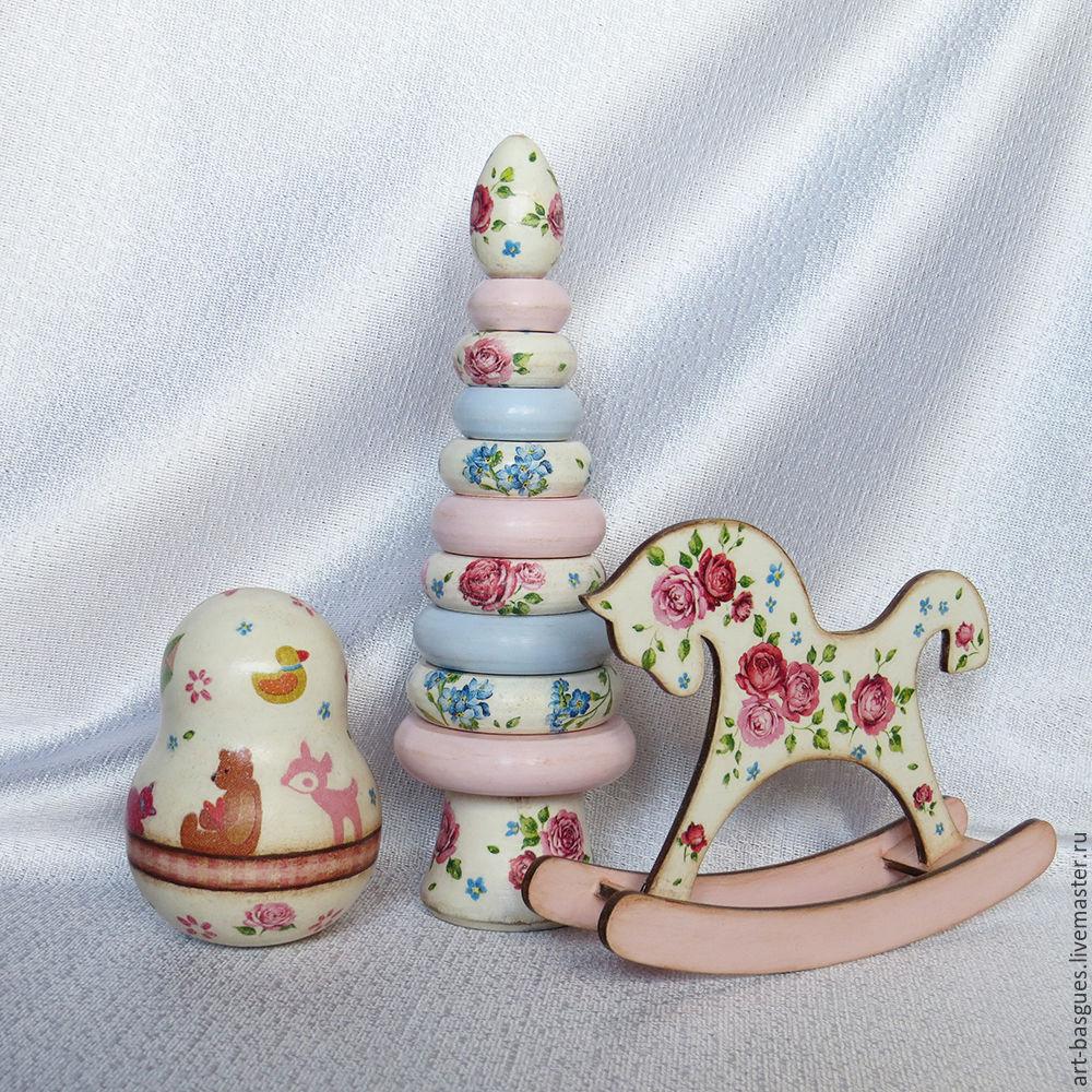 Подарок новорожденному:  Розы в незабудках  набор игрушек, Подарки для новорожденных, Великие Луки,  Фото №1