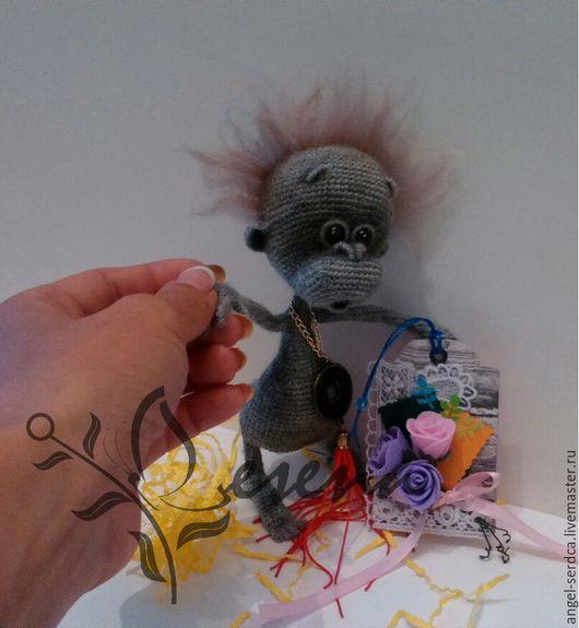 """Игрушки животные, ручной работы. Ярмарка Мастеров - ручная работа. Купить Обезьянка """"Малыш орангуташик"""". Handmade. Подарок, обезьянка, пряжа"""