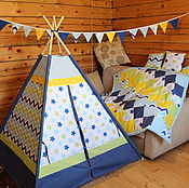 "Для дома и интерьера handmade. Livemaster - original item Wigwam for children ""Blue world"". Handmade."