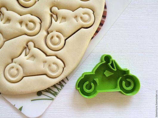 Кухня ручной работы. Ярмарка Мастеров - ручная работа. Купить Форма для печенья Мотоцикл. Handmade. Разноцветный, формочка для печенья