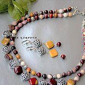 Украшения handmade. Livemaster - original item Set Ariadne. jasper beads earrings. Handmade.