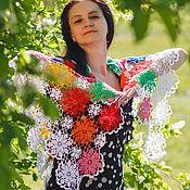 Аксессуары ручной работы. Ярмарка Мастеров - ручная работа Шаль Цветы. Handmade.