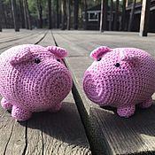 Куклы и игрушки handmade. Livemaster - original item Knitted pig. Handmade.