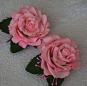 """Украшения ручной работы. Ярмарка Мастеров - ручная работа Комплект """"Розовые розы"""". Handmade."""
