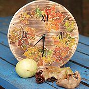 Часы классические ручной работы. Ярмарка Мастеров - ручная работа Часы настенные Осень. Handmade.