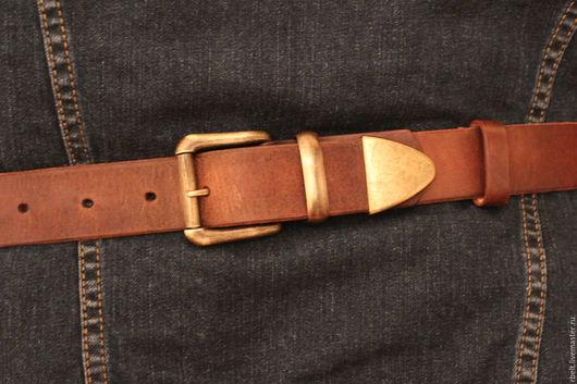 Пояса, ремни ручной работы. Ярмарка Мастеров - ручная работа. Купить код тов. 2/20 Винтажный ремень ручной работы - 38 мм. Handmade.