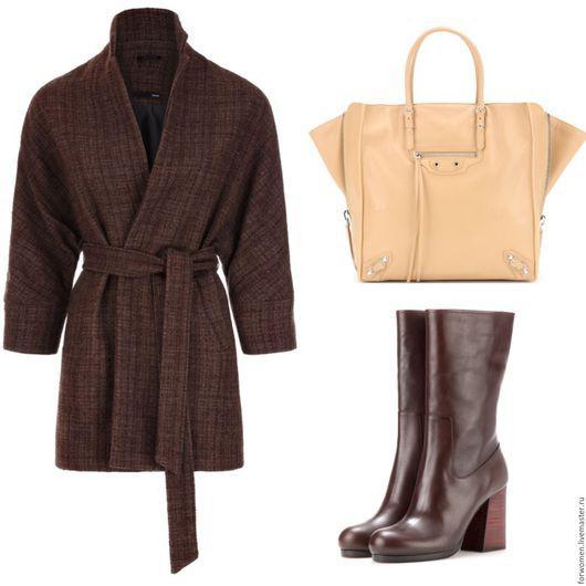 Верхняя одежда ручной работы. Ярмарка Мастеров - ручная работа. Купить Стильное пальто, шоколадное. Handmade. Коричневый, пальто стильное