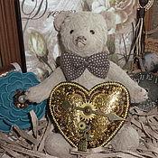 Украшения handmade. Livemaster - original item Steampunk brooch in the shape of a heart. Handmade.