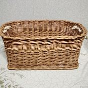 Для дома и интерьера handmade. Livemaster - original item Box made of natural willow twigs with handles made of rope. Handmade.