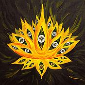 Картины ручной работы. Ярмарка Мастеров - ручная работа Картины: Лотос Многоглазый. Handmade.