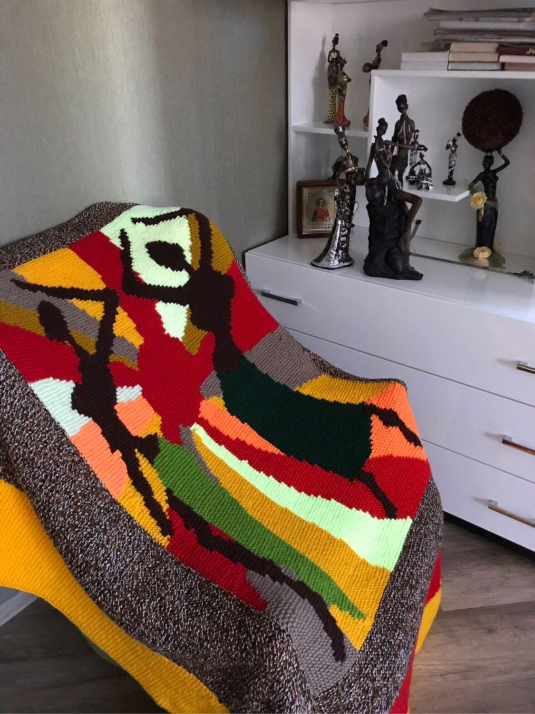 Вязаный плед «Африканские страсти», Пледы, Астрахань,  Фото №1