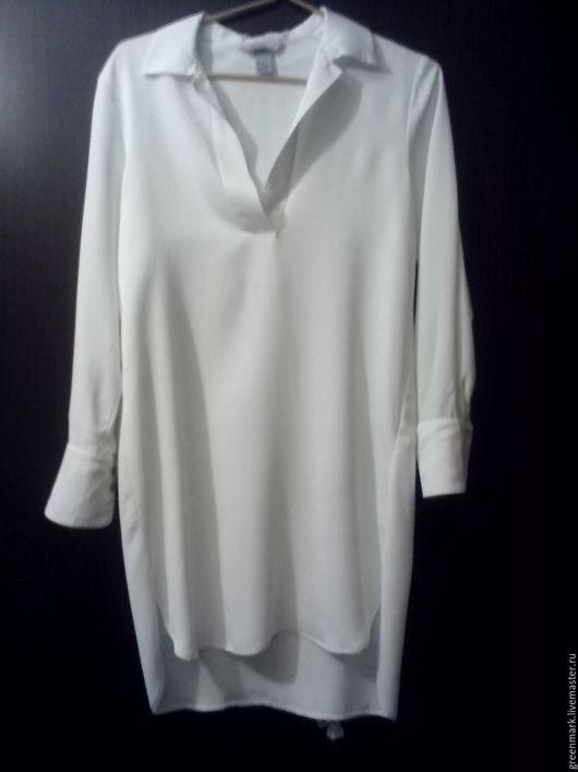 Одежда. Ярмарка Мастеров - ручная работа. Купить Скидка !  Белая блуза-платье H&M. EUR 34. Handmade. Белый