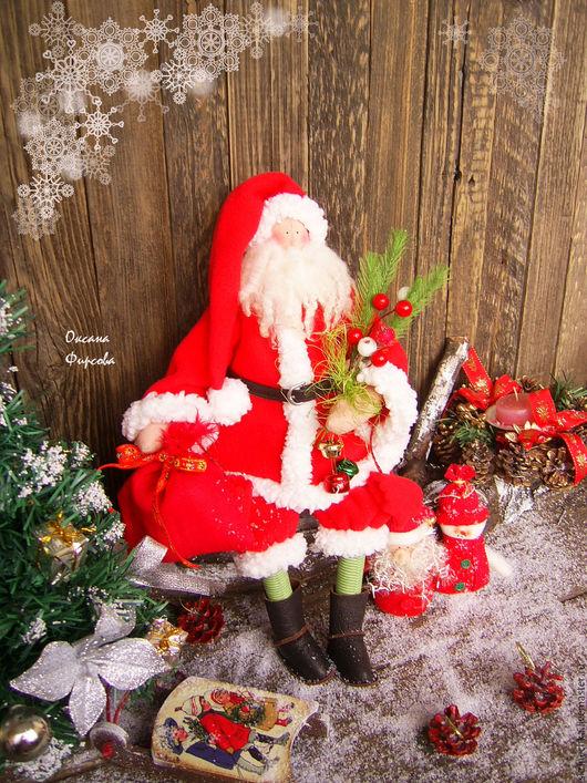Куклы Тильды ручной работы. Ярмарка Мастеров - ручная работа. Купить Кукла Тильда : Добрый Санта. Handmade.