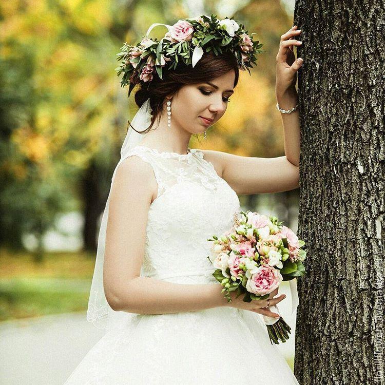 Свадебный букет+веночек на голову!, Букеты, Москва, Фото №1