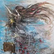 Картины и панно ручной работы. Ярмарка Мастеров - ручная работа Летящая. Handmade.