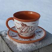 Чайные пары ручной работы. Ярмарка Мастеров - ручная работа Чайная пара Мезенские напевы. Handmade.