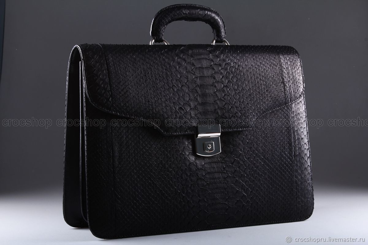 A portfolio of Python skin, the inner filling leather IMP0582B, Brief case, Moscow,  Фото №1