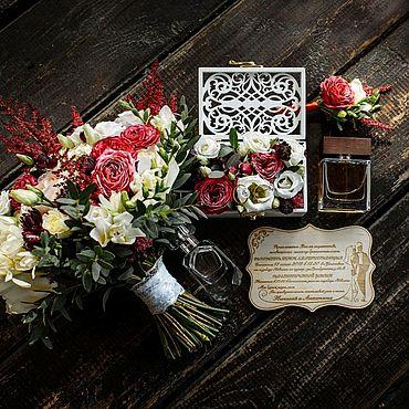 Свадебный салон ручной работы. Ярмарка Мастеров - ручная работа Шкатулка под кольца. Handmade.