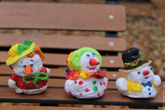 Коллекционные куклы ручной работы. Ярмарка Мастеров - ручная работа. Купить Снеговик. Handmade. Комбинированный, ватная елочная игрушка