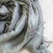 Аксессуары handmade. Livemaster - original item Italian grey linen stole