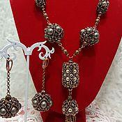 Украшения handmade. Livemaster - original item Jewelry set beaded and pearls of Majorca