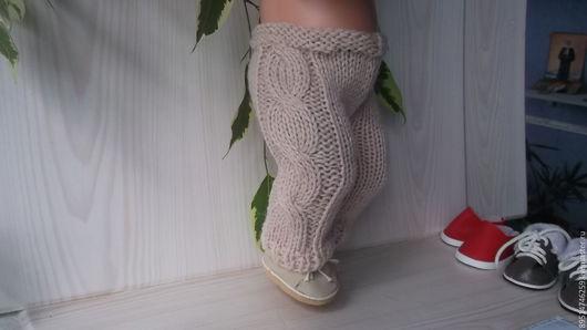 Одежда для кукол ручной работы. Ярмарка Мастеров - ручная работа. Купить Вязаные штанишки для Бебика бежевые. Handmade. Бежевый, для прогулок