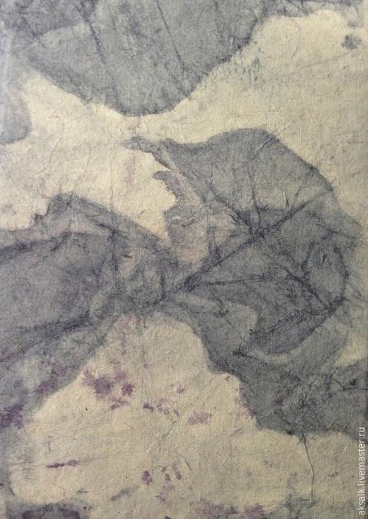 """Абстракция ручной работы. Ярмарка Мастеров - ручная работа. Купить """"Сочный чернослив"""" Бумага батик с мраморным рисунком. Handmade. Черный"""